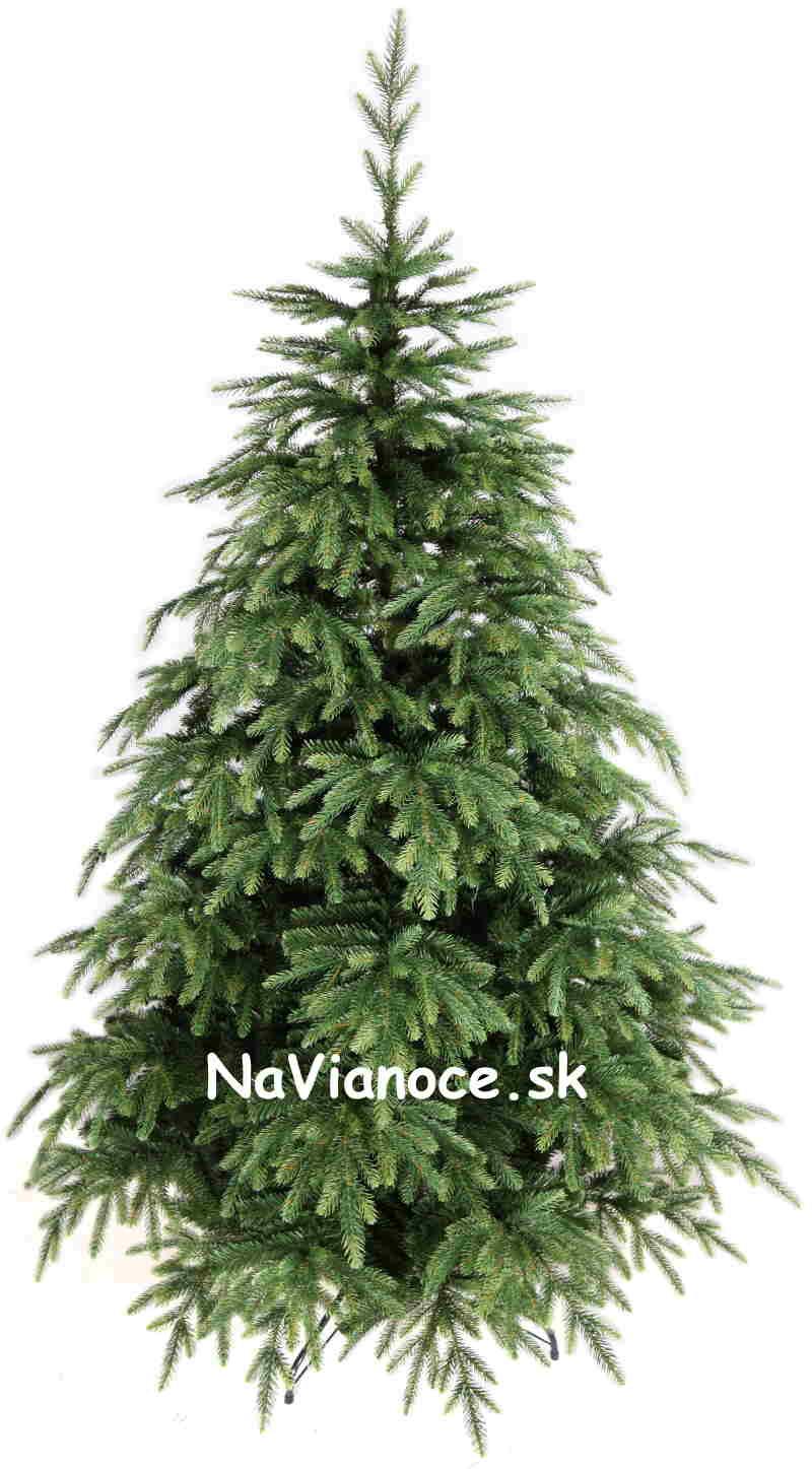 umelý vianočný stromček asymetrický